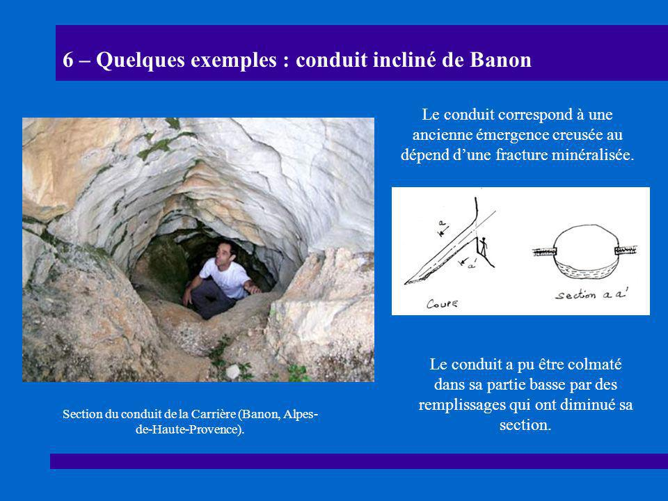 6 – Quelques exemples : conduit incliné de Banon