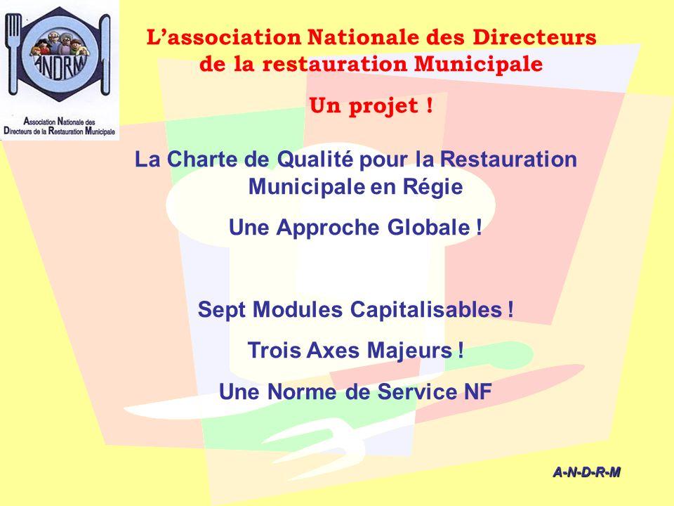 L'association Nationale des Directeurs de la restauration Municipale