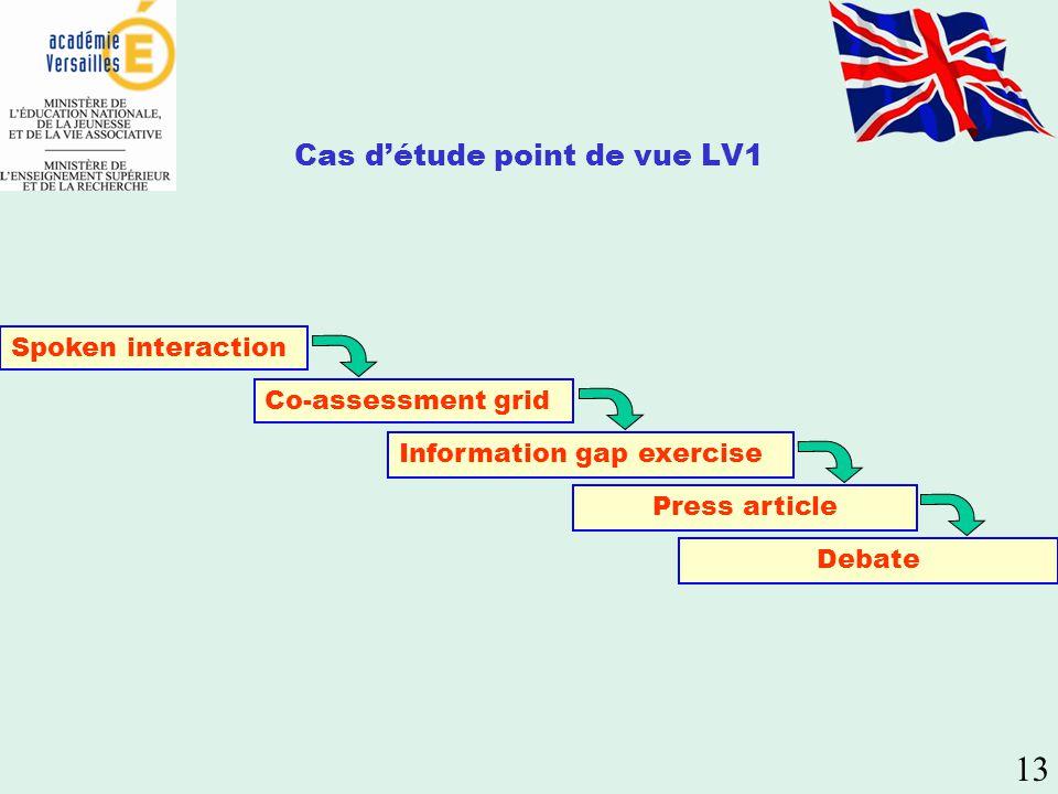 Cas d'étude point de vue LV1