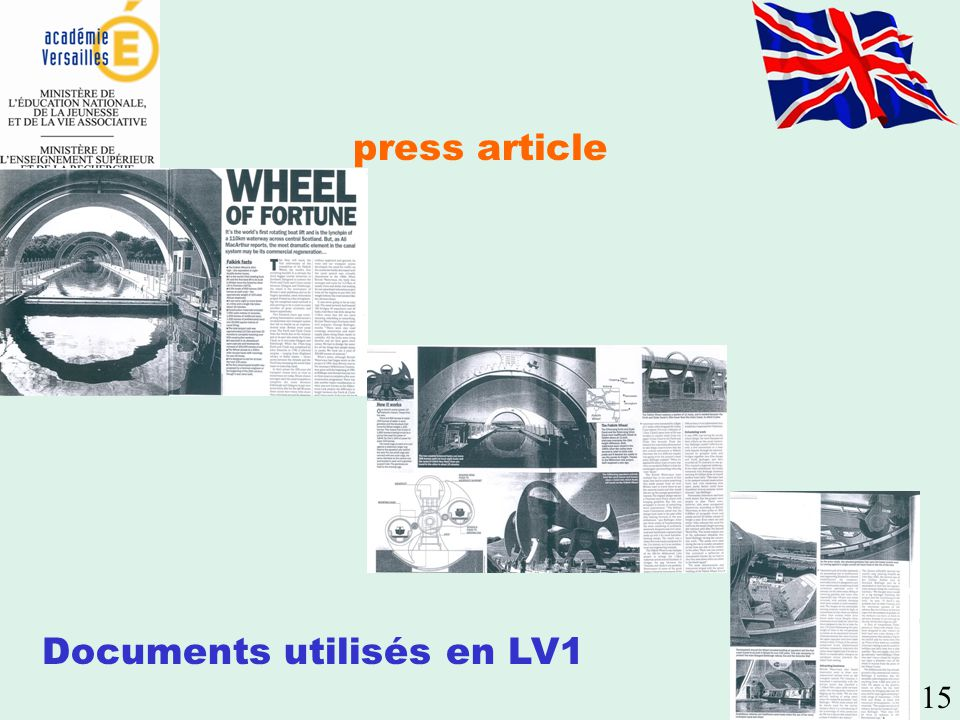 Documents utilisés en LV1