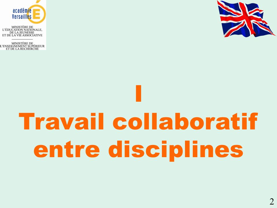 Travail collaboratif entre disciplines