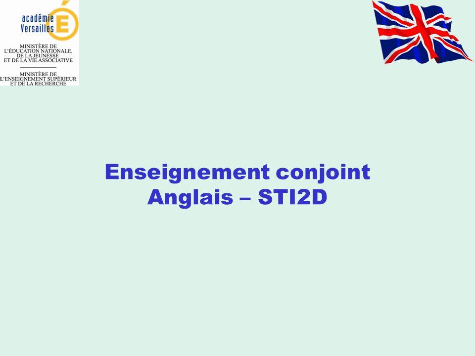 Enseignement conjoint Anglais – STI2D