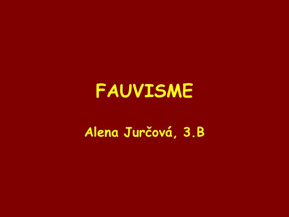 FAUVISME Alena Jurčová, 3.B