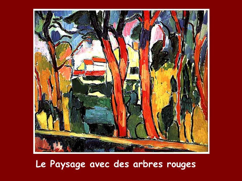 Le Paysage avec des arbres rouges