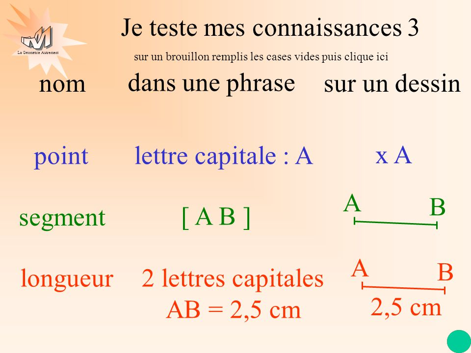 2 lettres capitales AB = 2,5 cm