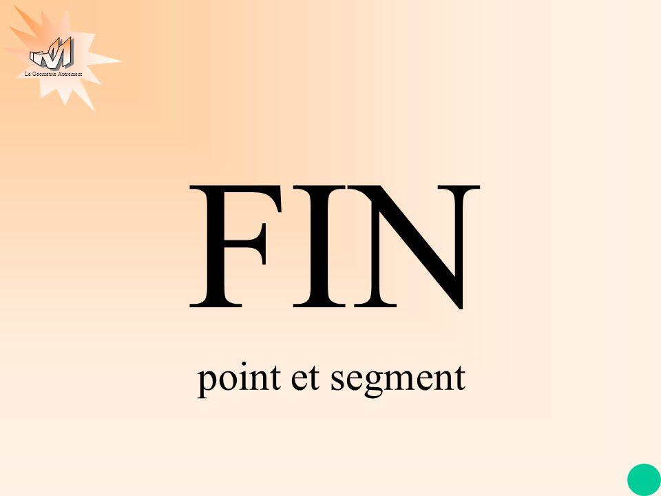 FIN point et segment