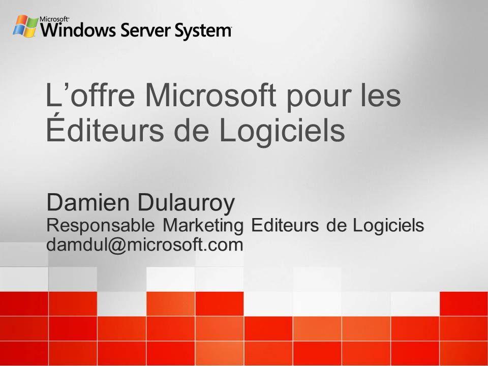 L'offre Microsoft pour les Éditeurs de Logiciels