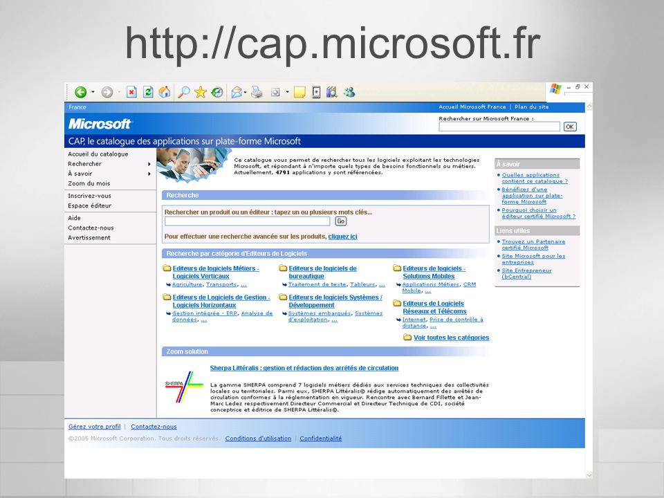 http://cap.microsoft.fr