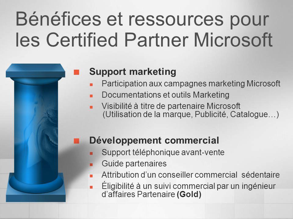 Bénéfices et ressources pour les Certified Partner Microsoft