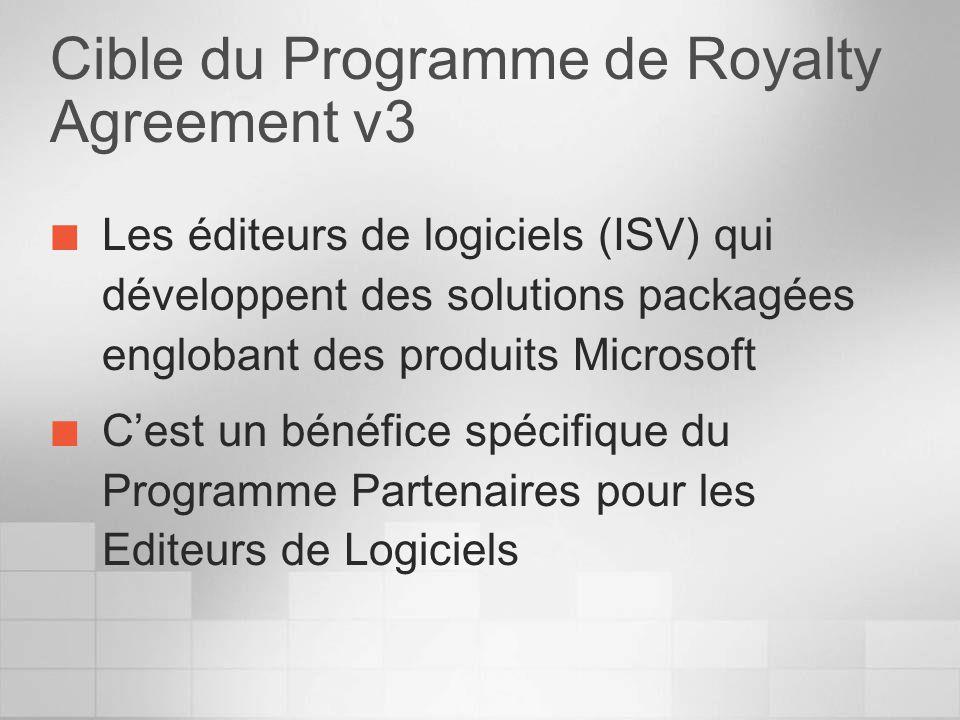 Cible du Programme de Royalty Agreement v3