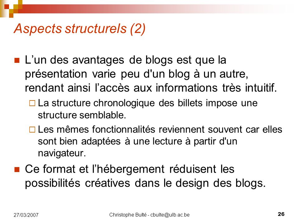 Aspects structurels (2)