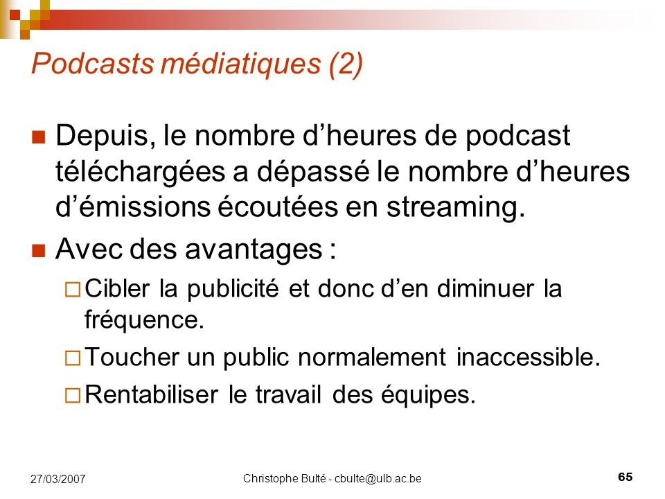 Podcasts médiatiques (2)