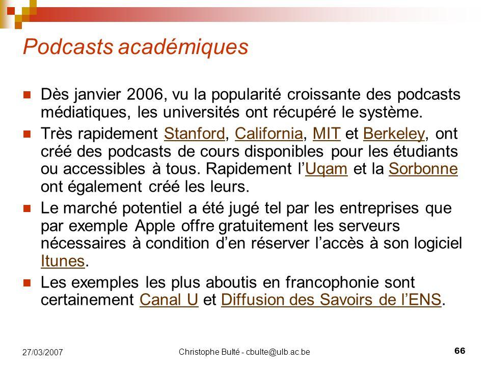Christophe Bulté - cbulte@ulb.ac.be