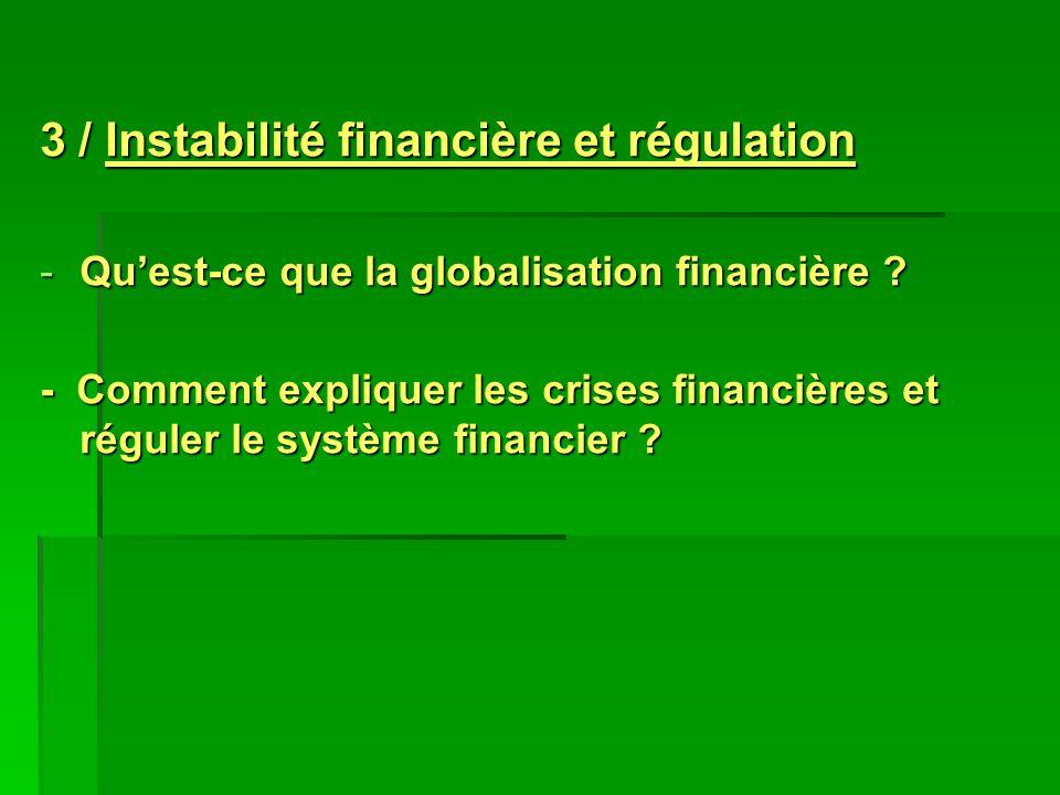 3 / Instabilité financière et régulation