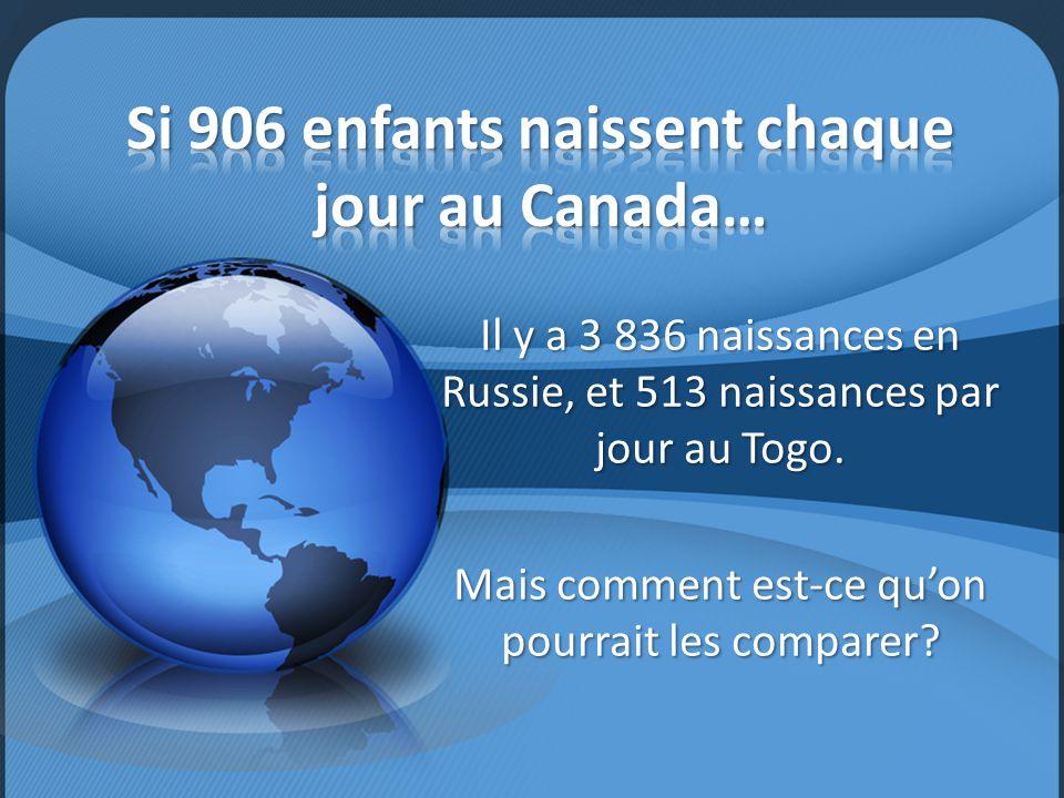 Si 906 enfants naissent chaque jour au Canada…