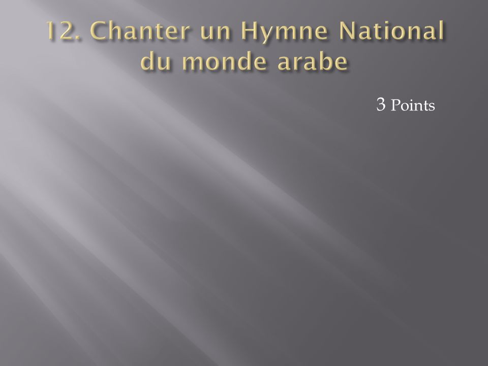 12. Chanter un Hymne National du monde arabe