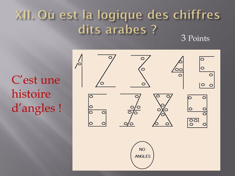 XII. Où est la logique des chiffres dits arabes