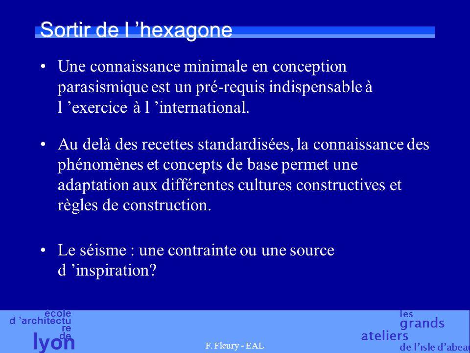 Sortir de l 'hexagone Une connaissance minimale en conception parasismique est un pré-requis indispensable à l 'exercice à l 'international.
