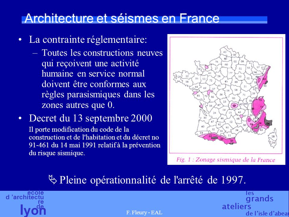 Architecture et séismes en France