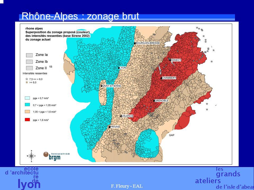 Rhône-Alpes : zonage brut