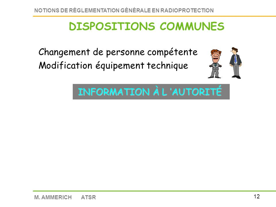 DISPOSITIONS COMMUNES