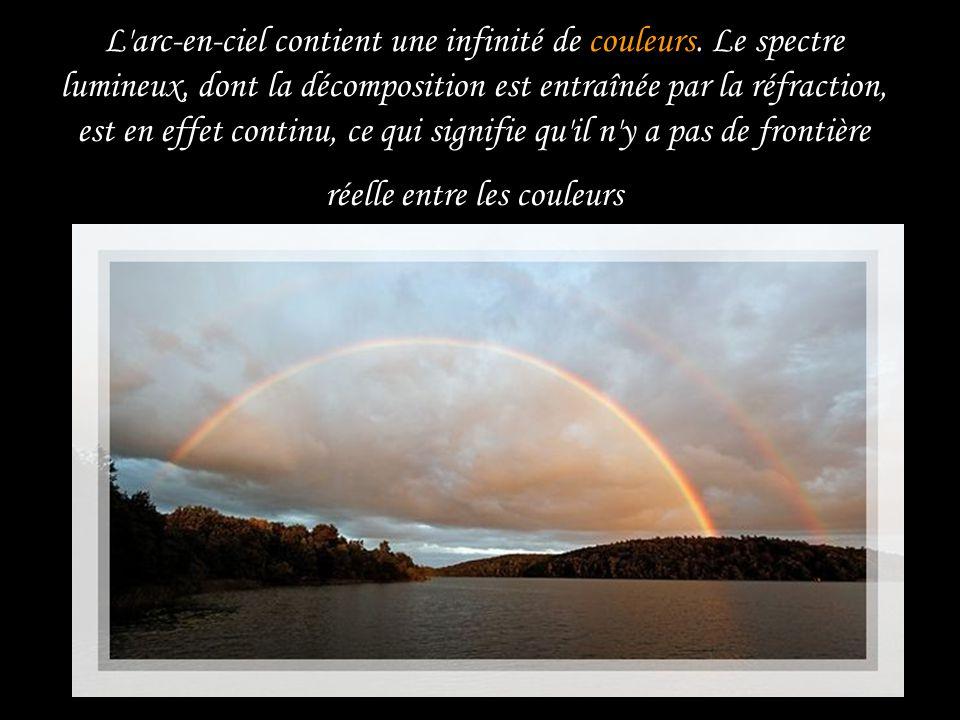 L arc-en-ciel contient une infinité de couleurs