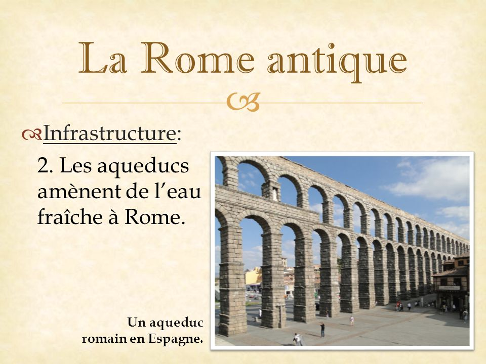 La Rome antique Infrastructure: