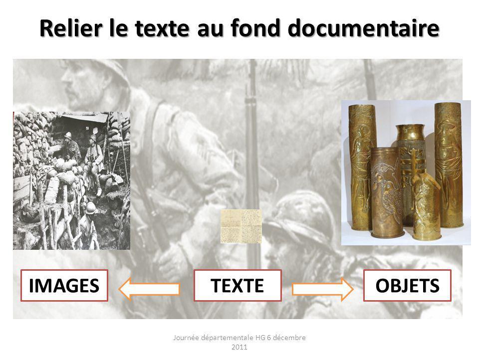 Relier le texte au fond documentaire