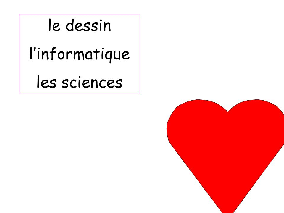 le dessin l'informatique les sciences