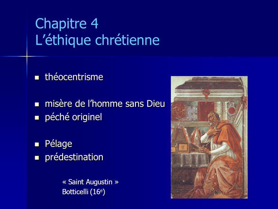 Chapitre 4 L'éthique chrétienne