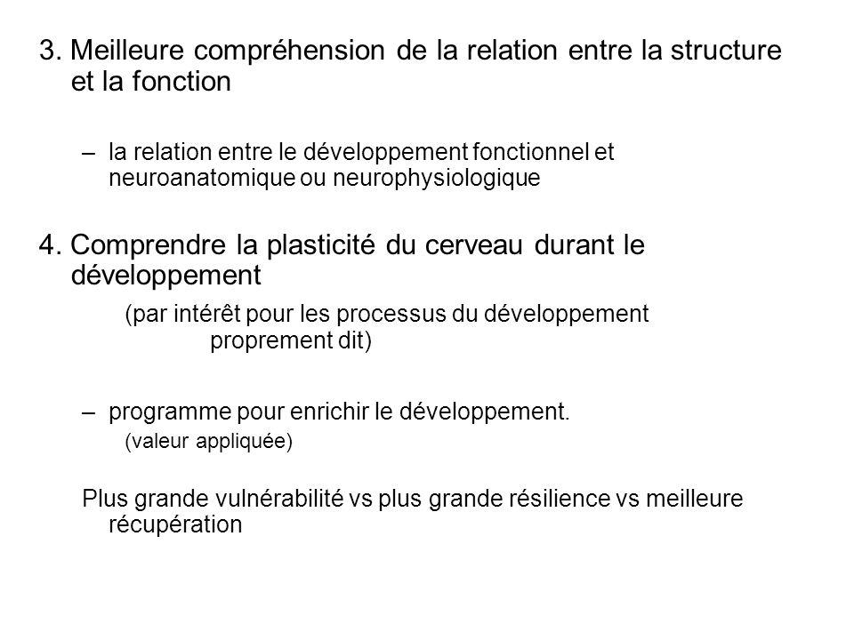 4. Comprendre la plasticité du cerveau durant le développement