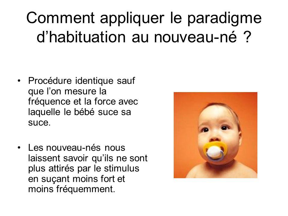 Comment appliquer le paradigme d'habituation au nouveau-né