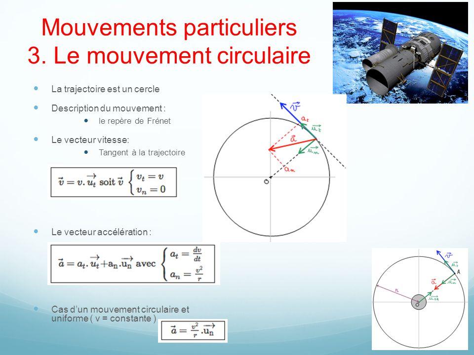 Mouvements particuliers 3. Le mouvement circulaire