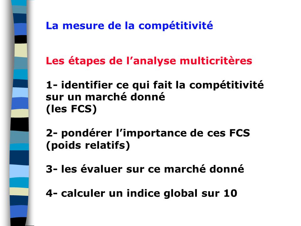 La mesure de la compétitivité
