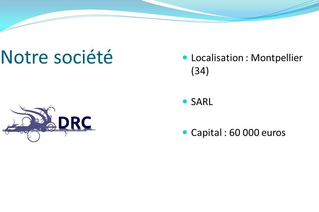 Notre société Localisation : Montpellier (34) SARL