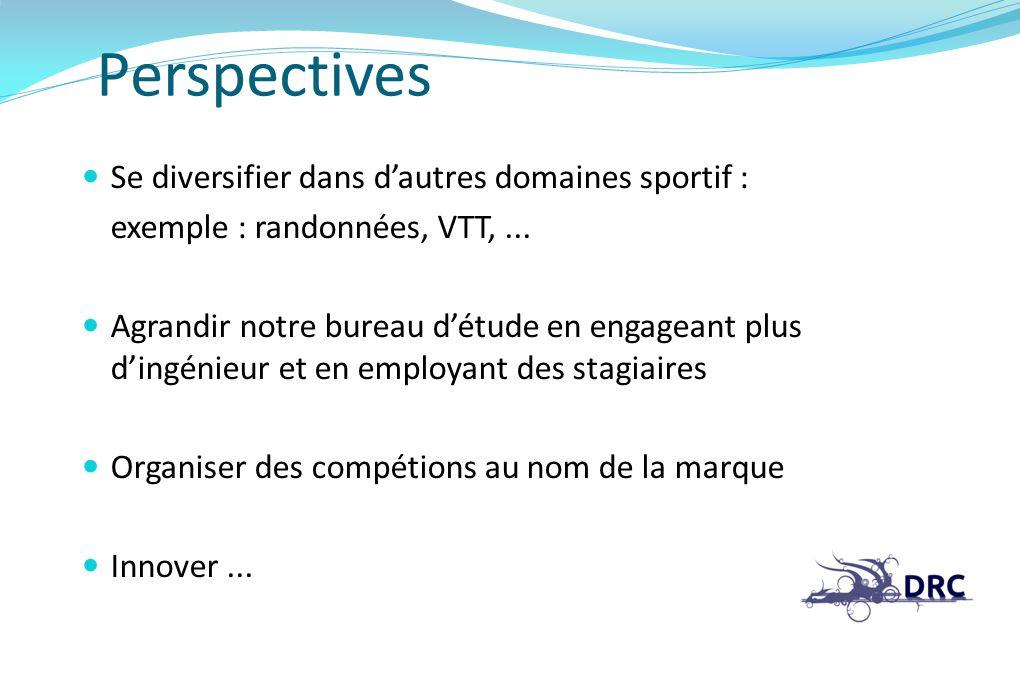 Perspectives Se diversifier dans d'autres domaines sportif :