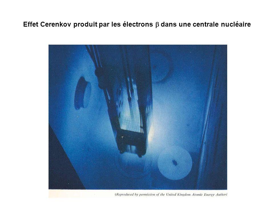 Effet Cerenkov produit par les électrons b dans une centrale nucléaire