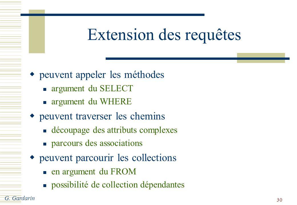 Extension des requêtes