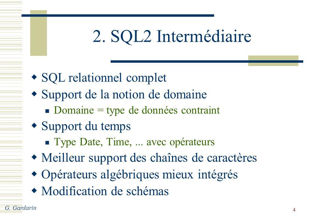 2. SQL2 Intermédiaire SQL relationnel complet
