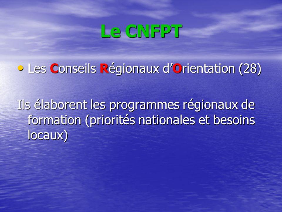 Le CNFPT Les Conseils Régionaux d'Orientation (28)