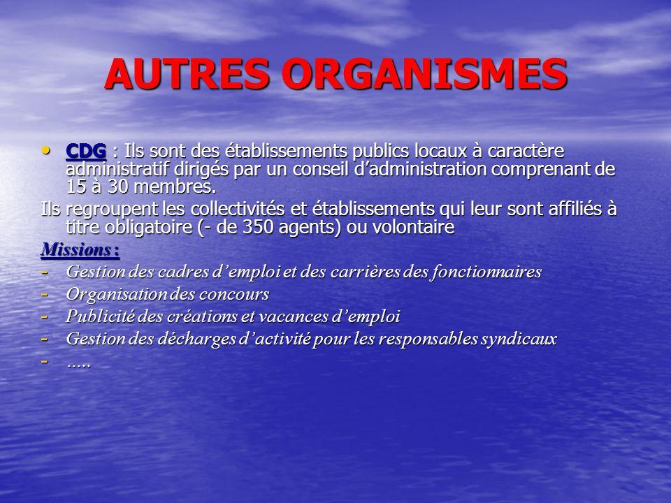 AUTRES ORGANISMES