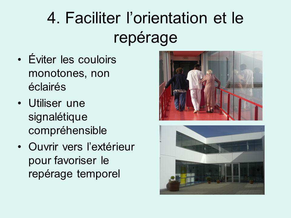 4. Faciliter l'orientation et le repérage