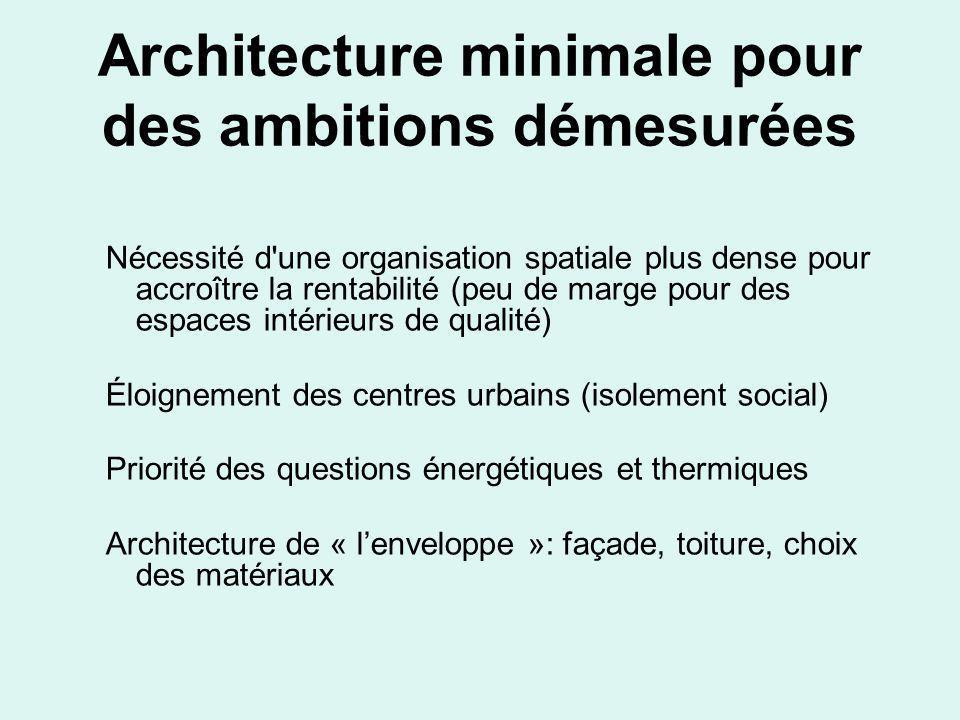 Architecture minimale pour des ambitions démesurées