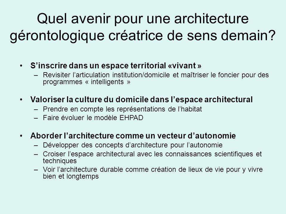 Quel avenir pour une architecture gérontologique créatrice de sens demain