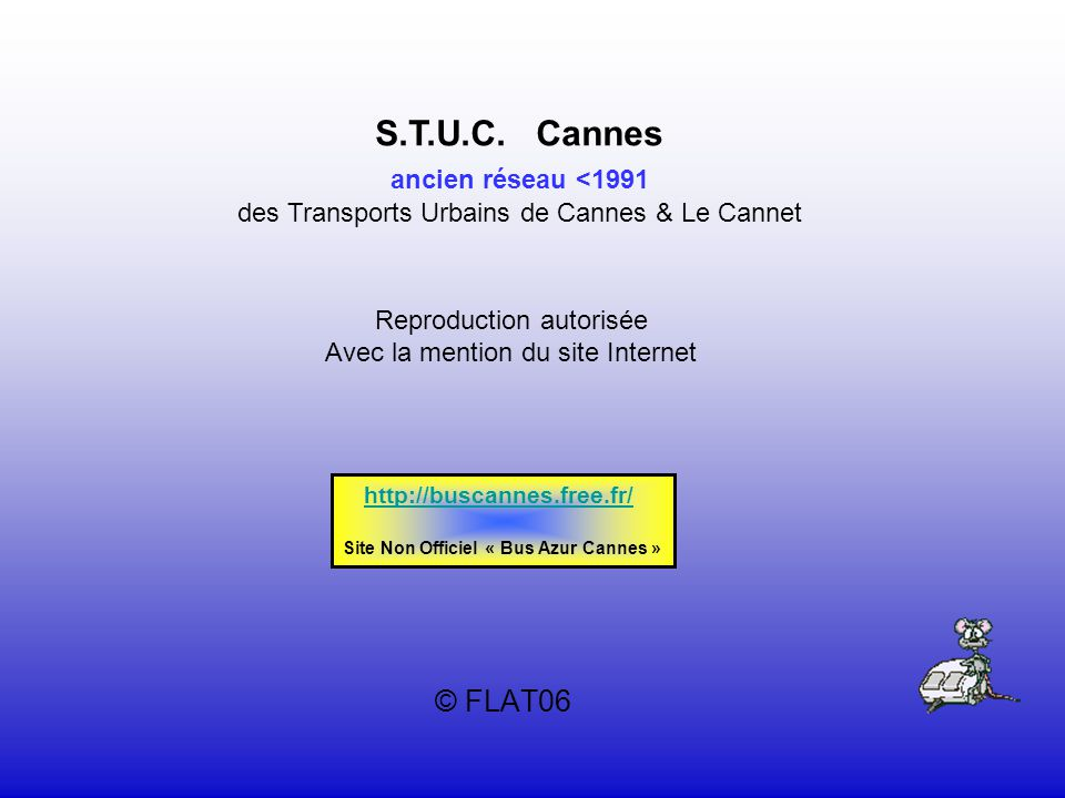 Site Non Officiel « Bus Azur Cannes »
