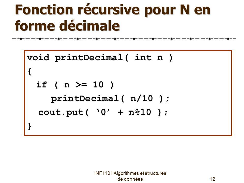 Fonction récursive pour N en forme décimale