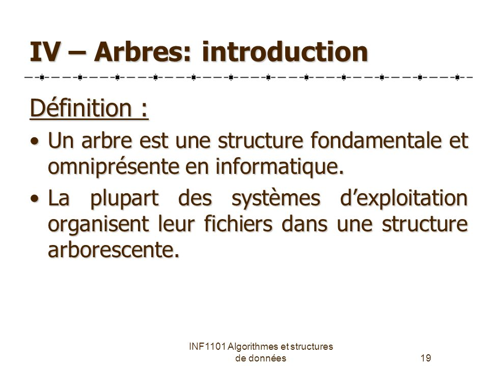 IV – Arbres: introduction