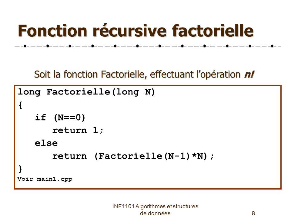 Fonction récursive factorielle