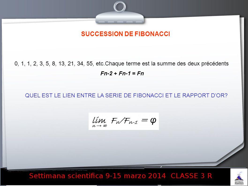SUCCESSION DE FIBONACCI