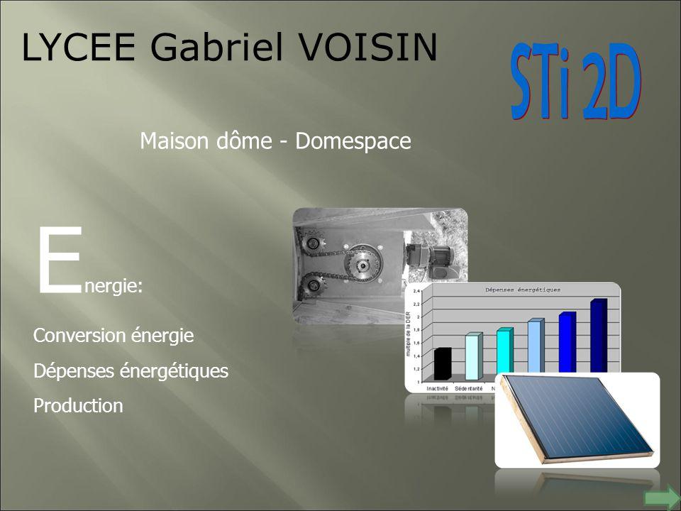 Energie: LYCEE Gabriel VOISIN STi 2D Maison dôme - Domespace
